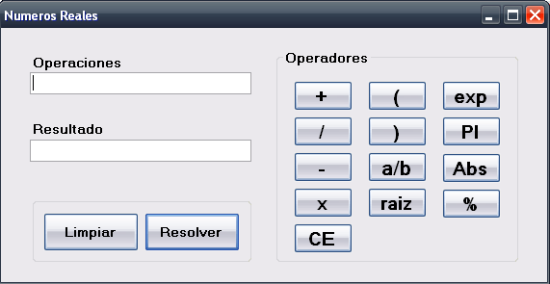 Imagen de calculadora hecha en C#